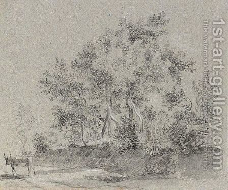 Three Landscapes With Trees by Dutch School - Reproduction Oil Painting