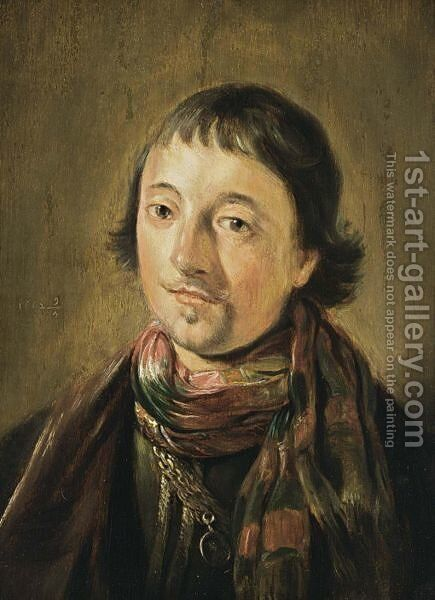 A Portrait Of A Young Man, Bust Length, Wearing An Oriental Costume by Haarlem School - Reproduction Oil Painting