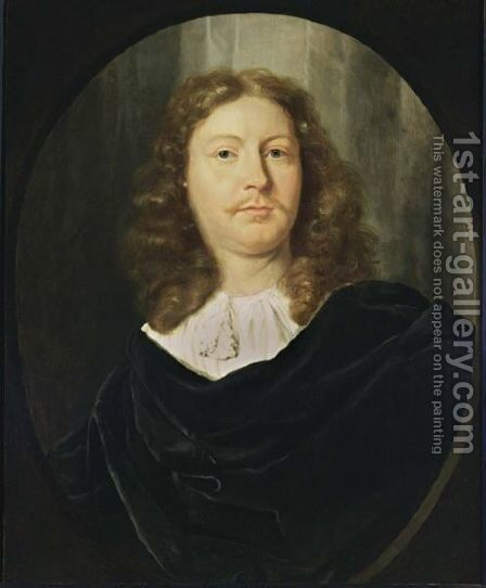 A Portrait Of A Gentleman by Dutch School - Reproduction Oil Painting