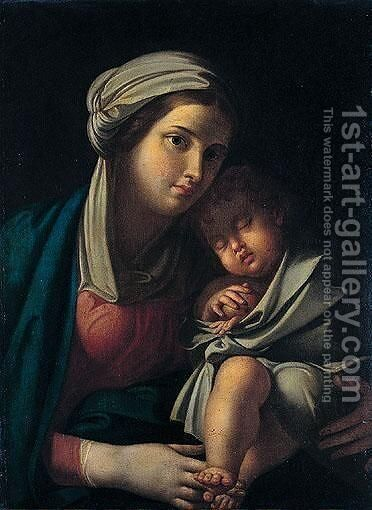 The Madonna And Child by (after) Francesco Albani - Reproduction Oil Painting