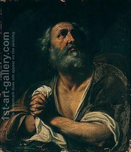 Saint Peter by Emilian School - Reproduction Oil Painting