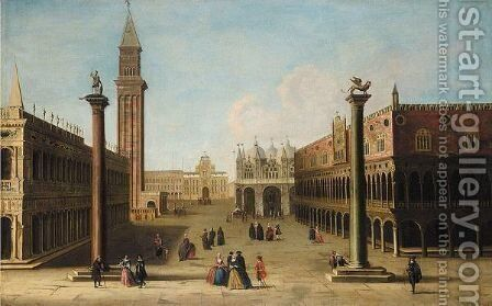 Venice, A View Of The Piazzetta And The Doge's Palace Looking North by (after) (Giovanni Antonio Canal) Canaletto - Reproduction Oil Painting
