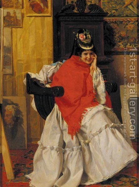 The Model by Cesare Maccari - Reproduction Oil Painting