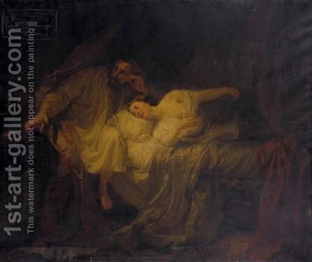 The Duke D'Este Mourning Death by Andrea Gastaldi - Reproduction Oil Painting