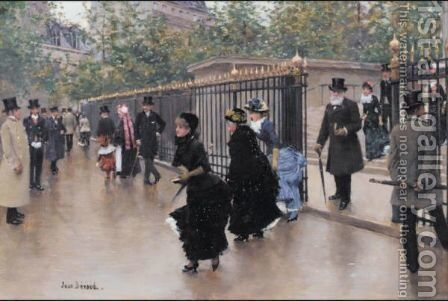 La Madeleine by Jean-Georges Beraud - Reproduction Oil Painting