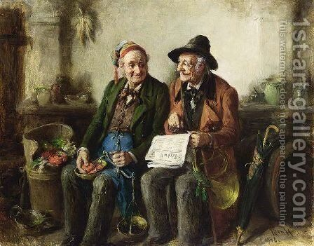 The Latest News by Hermann Kern - Reproduction Oil Painting
