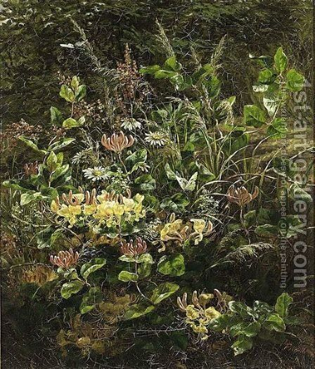 A Flower Bouquet On A Forest Floor by Anthonore Christensen - Reproduction Oil Painting