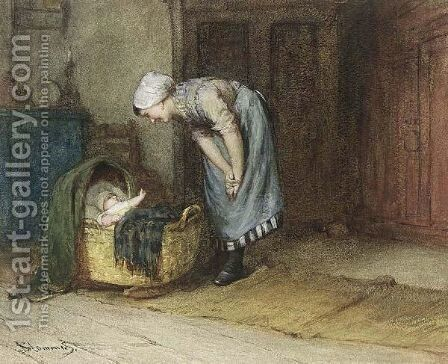 A Happy Mother by Bernardus Johannes Blommers - Reproduction Oil Painting