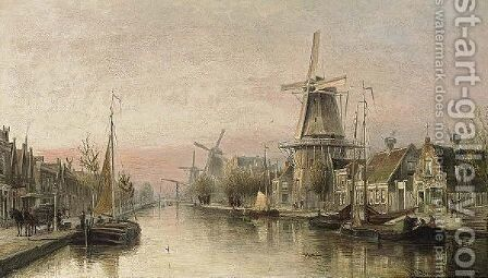 A View Of The Overtoom, Amsterdam by Cornelis Christiaan Dommelshuizen - Reproduction Oil Painting