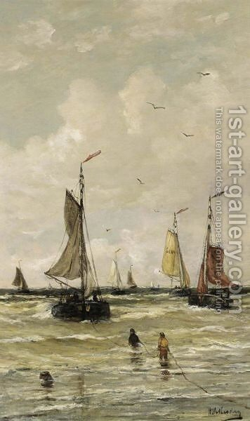 The Return Of The Fishing Fleet by Hendrik Willem Mesdag - Reproduction Oil Painting