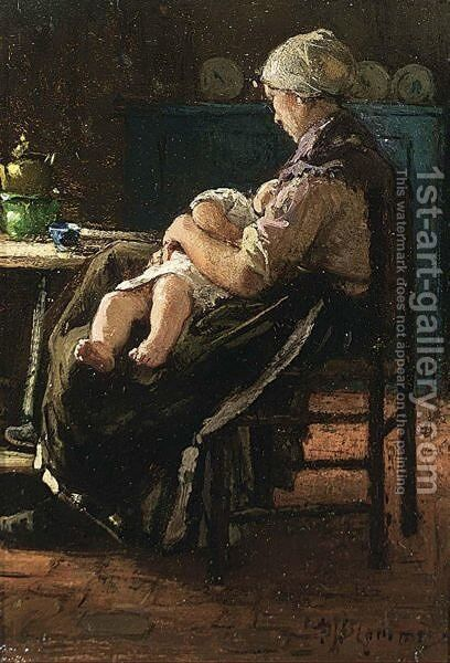 A Peaceful Moment 2 by Bernardus Johannes Blommers - Reproduction Oil Painting