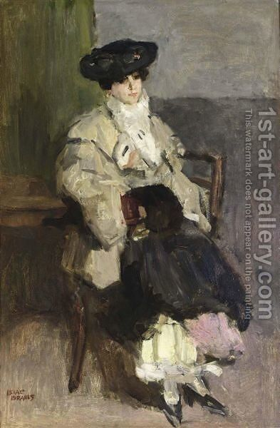 A'Une Parisienne A' by Isaac Israels - Reproduction Oil Painting