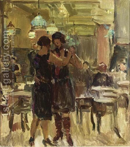 At The Scala Cafe, The Hague by Isaac Israels - Reproduction Oil Painting