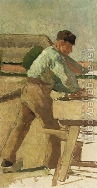 A Workman At A Bench by Anthon Gerard Alexander - Reproduction Oil Painting