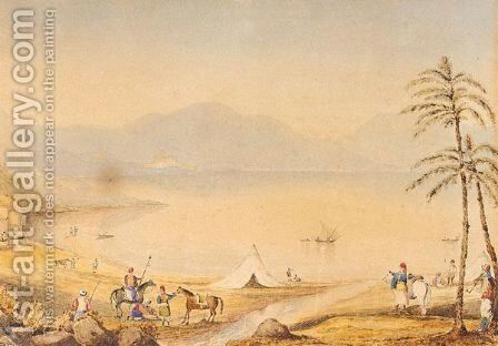 A Greek Encampment by Continental School - Reproduction Oil Painting