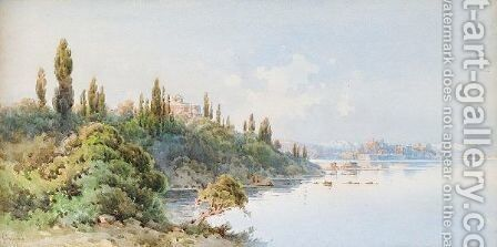 View Of Corfu by Angelos Giallina - Reproduction Oil Painting
