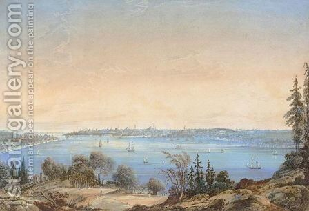 The Golden Horn, Constantinople by Joseph Schranz - Reproduction Oil Painting