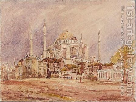 Views Of Constantinople by (after) Jean Louis Petit - Reproduction Oil Painting