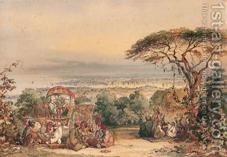 View Across The Golden Horn, Constantinople by Amadeo Preziosi - Reproduction Oil Painting