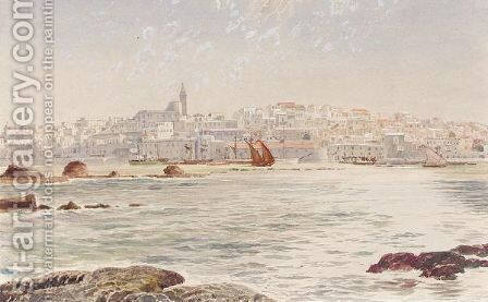 View Of Jaffa by E.H. Fitchew - Reproduction Oil Painting