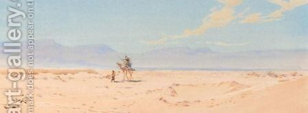 A Camel Crossing The Desert by Augustus Osborne Lamplough - Reproduction Oil Painting