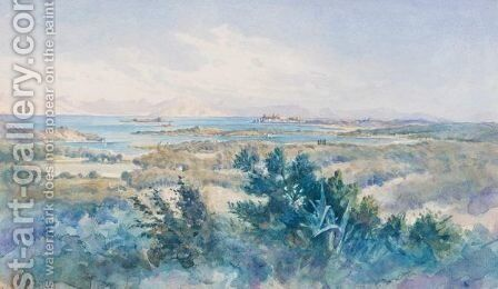 View Of Corfu 2 by Angelos Giallina - Reproduction Oil Painting