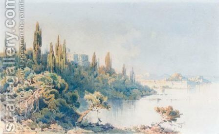 View Of Corfu 3 by Angelos Giallina - Reproduction Oil Painting
