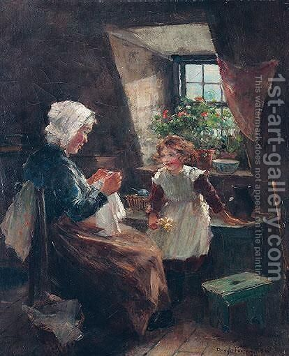 A Stitch In Time by (after) David Fulton - Reproduction Oil Painting
