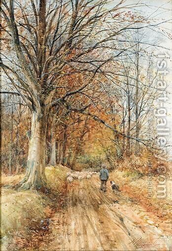The End Of October by Henry Monteith Telfer - Reproduction Oil Painting