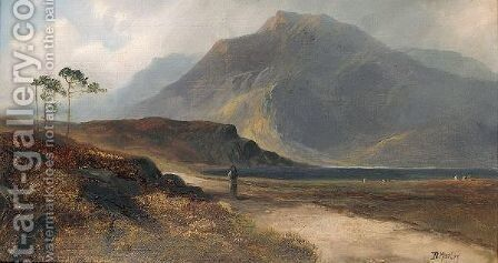 Highland Scenes by D. Morley - Reproduction Oil Painting