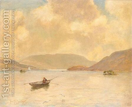 Fishing On Loch Awe by David Murray - Reproduction Oil Painting