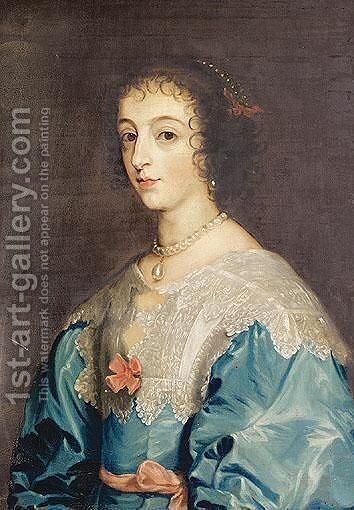 Portrait Of Henrietta Maria by Nathan Drake - Reproduction Oil Painting