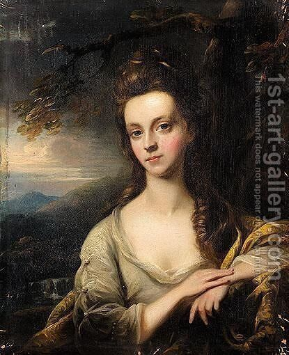 Portrait Of A Lady 2 by (after) Nathaniel Hone - Reproduction Oil Painting