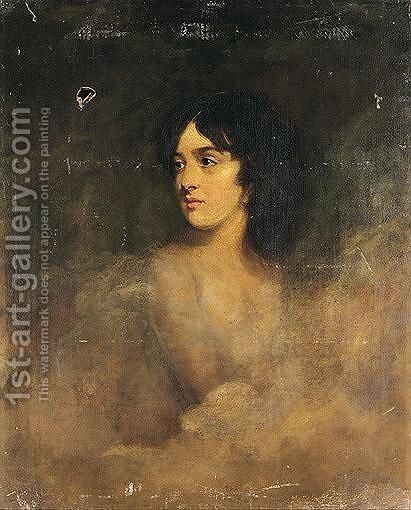 Portrait Of A Girl by (after) Lawrence, Sir Thomas - Reproduction Oil Painting