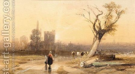 Warwick Castle by (after) James Baker Pyne - Reproduction Oil Painting