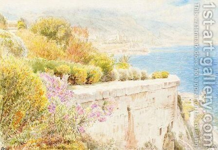 Monaco by Albert Goodwin - Reproduction Oil Painting