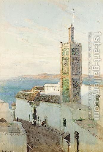 Middle Eastern Street Scene by Alfred Heaton Cooper - Reproduction Oil Painting