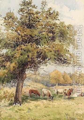 Cattle Grazing by Henry John Yeend King - Reproduction Oil Painting