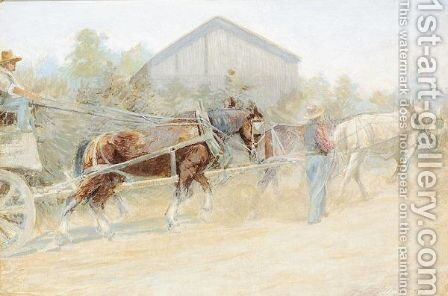 Uphill Work by Harry Spiers - Reproduction Oil Painting