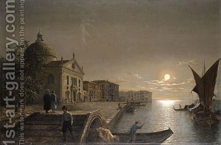 Moonlight In Venice 2 by Henry Pether - Reproduction Oil Painting