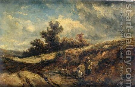 On Hampstead Heath by (after) Edmund Morison Wimperis - Reproduction Oil Painting