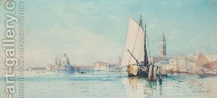 View Of Venice by Ainslie H. Bean - Reproduction Oil Painting