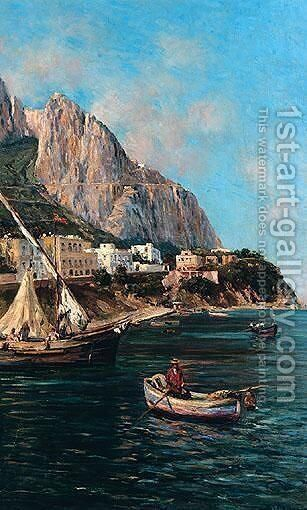 Off The Coast, Southern Italy by Bernardo Hay - Reproduction Oil Painting