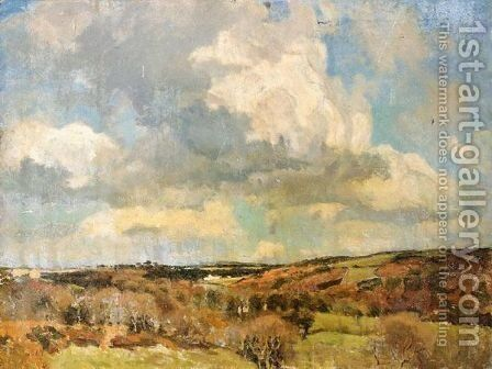 West Country Landscape by Benjamin Eastlake Leader - Reproduction Oil Painting