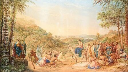 Palm Sunday by Agostino Aglio - Reproduction Oil Painting