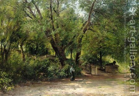 The Zoo by Albert Hertel - Reproduction Oil Painting