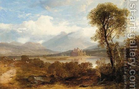 Kilchurn Castle, loch Awe by Horatio McCulloch - Reproduction Oil Painting