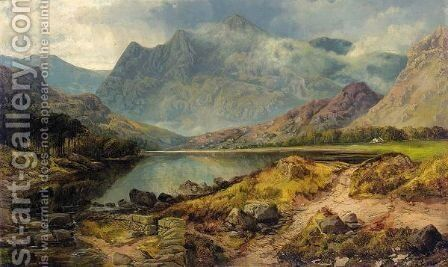 A Highland Loch by Henry Jutsum - Reproduction Oil Painting