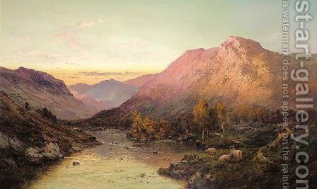 From The Bramber Pass 2 by Alfred de Breanski - Reproduction Oil Painting