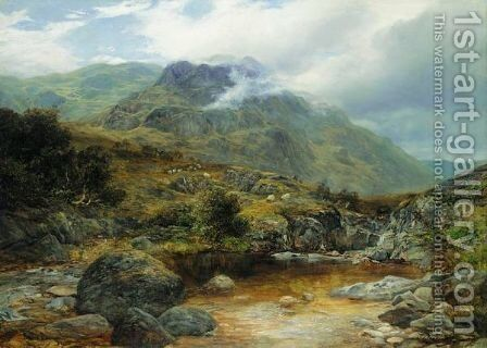 In The Highlands by James Docharty - Reproduction Oil Painting